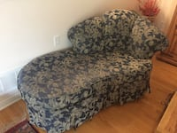 gray and white floral sofa chair MISSISSAUGA