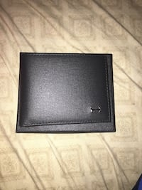 black leather bi-fold wallet Lindsay, 93247