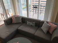 West Elm sectional Miami, 33131