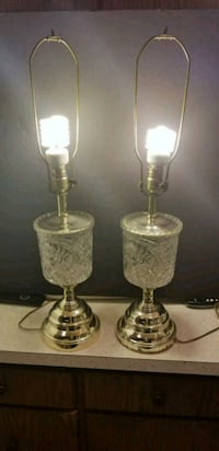 Pair Glass Lamps - Good Condition - Blemishes  69 km