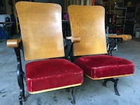 VINTAGE THEATRE CHAIRS