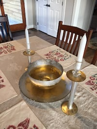 Gold & Silver Bowl, Chaser & Candle Set Boonsboro