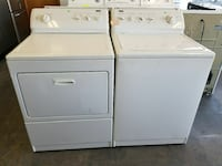 two white top-load washer with white front-load dryer Gainesville