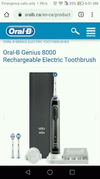 oral B electric rechargeable toothbrush Kitchener, N2M 3W4