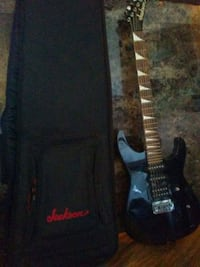 Amp and 2 Jr Washburn/Jackson with bags & hookups