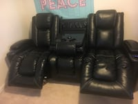 black leather recliner sofa chair Frederick, 21701