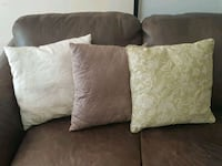 two white and one gray throw pillows Oakville, L6H 4T7