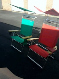 Outdoor chairs w sun shades fully recline Springfield, 22150