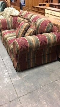purple and green floral fabric sofa Welland, L0S 1V0