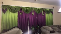 green and purple floral curtain Paterson, 07503