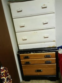 white and brown wooden 4-drawer chest 3248 mi