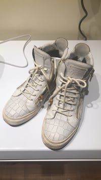 Giuseppe zanotti White embossed leather shoes 米西索加, L5L