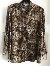 Animal Print Maternity Shirt, Size M