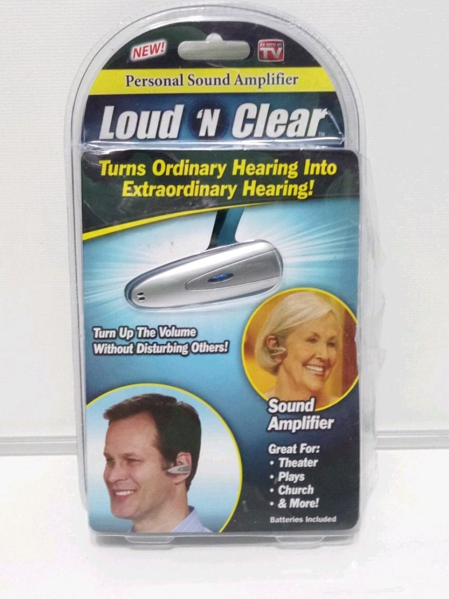 Photo Personal Sound Hearing Amplifier. Load And Clear Used Once. New Batter