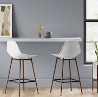 Set of Two Mid Century Modern Counter Hight Stools