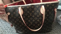 black and brown Louis Vuitton leather tote bag Port Coquitlam, V3B 1T7