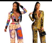 ladies Versace style fitted one piece Chicago
