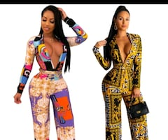 ladies Versace style fitted one piece