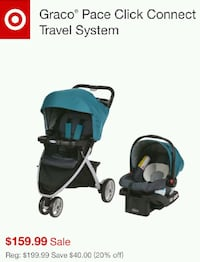 baby's black and blue travel system screenshot Springfield