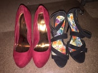 Brand new woman's heels size 10 25$ both La Quinta, 92253