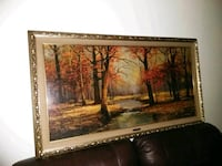 Large Framed painting by R. Wood , 1960 North Augusta, 29860