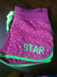 purple and green Star dolphin shorts