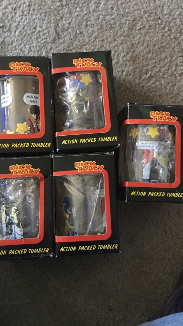 b59d17edde2b Used Dick Tracy Action Pack Tumbler glass cups for sale in Warren ...