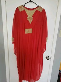Red kaftan with gold accent Toronto, M9W