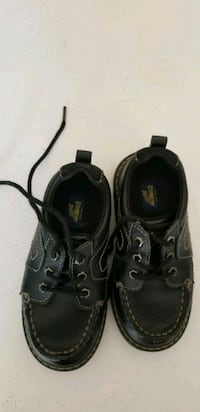Boy's Toddler black leather shoes