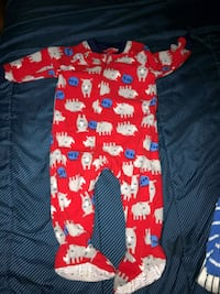 baby's red and white footie pajama Gaithersburg, 20878