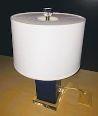 Blue table lamp with white shade NEWYORK