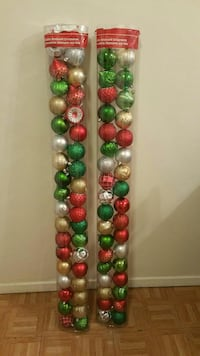 Christmas ornaments 72 pieces
