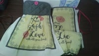 three yellow-and-black love quotes printed textiles McAllen, 78501
