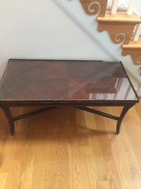 Vintage wood table with glass top project piece  Fayetteville, 28306