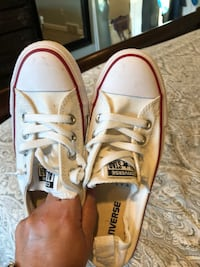 Pair of white converse all star low-top sneakers Westland