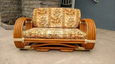 white brown floral couch