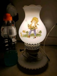 milk glass lamp vintage