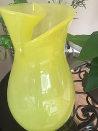 Beautiful lime glass vase Bear, 19701