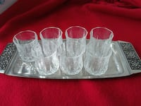 small crystal cups w/ tray Toronto, M1E 2S2