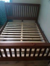 """Wood bed frame """"queen"""" Calgary, T2E 6S8"""