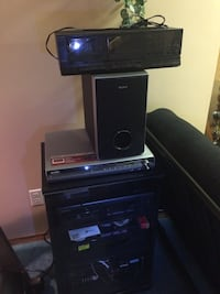 Various electronics including stand