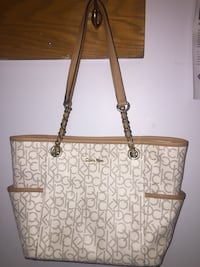 Brown and beige Calvin Klein purse Edmonton, T6A 3P4