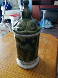 "Ceramic lidded container 13"" tall"