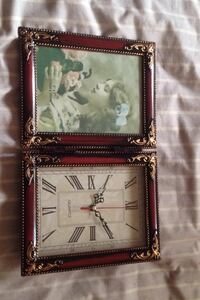 Two square brown wooden photo frames Laval, H7N 5J3