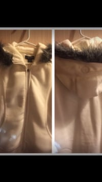 white and gray fur zip-up jacket collage