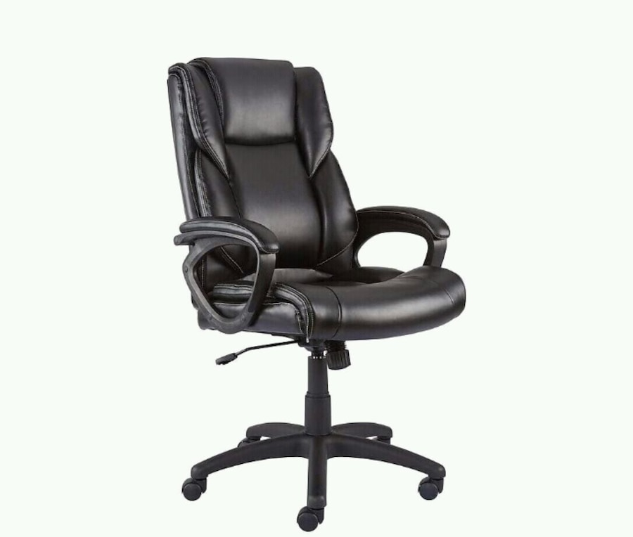 Photo NEW -Faux Leather Computer and Desk Chair, Black