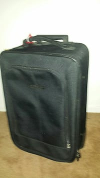 black travel luggage