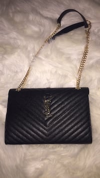 women's black Yves Saint Laurent shoulder bag