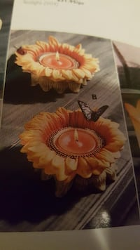 PARTYLITE SUNFLOWER TEALIGHT CANDLE HOLDER