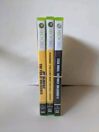 three Xbox 360 game cases Oshawa, L1K 1L8